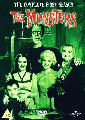"""""""The Munsters"""" - British DVD movie cover (thumbnail)"""