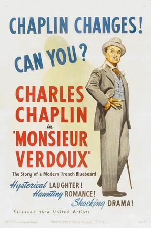 Monsieur Verdoux - Theatrical movie poster (thumbnail)