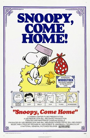 Snoopy Come Home - Theatrical poster (thumbnail)