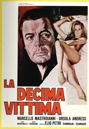La decima vittima - Italian Movie Poster (thumbnail)