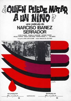 ¿Quièn puede matar a un niño? - Spanish Movie Poster (thumbnail)