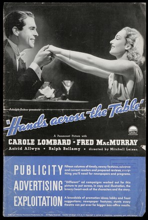 Hands Across the Table - Theatrical poster (thumbnail)