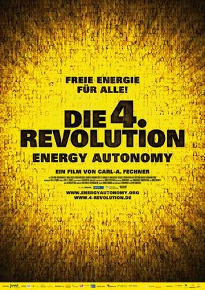 Die 4. Revolution - Energy Autonomy - German Movie Poster (thumbnail)