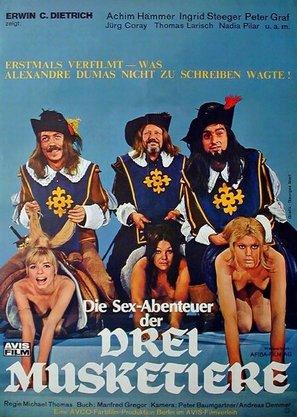 Die Sexabenteuer der drei Musketiere - German Movie Poster (thumbnail)