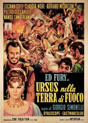 Ursus nella terra di fuoco - Italian Movie Poster (thumbnail)