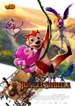 Jungle Shuffle - South Korean Movie Poster (thumbnail)