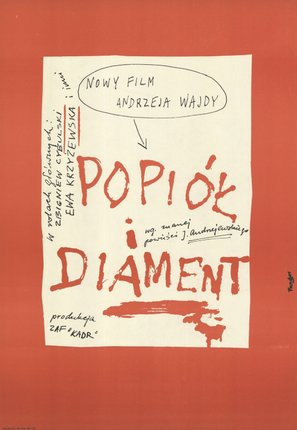 Popiól i diament - Polish Movie Poster (thumbnail)