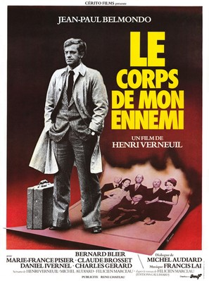 Le corps de mon ennemi - French Movie Poster (thumbnail)
