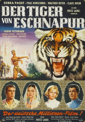 Der Tiger von Eschnapur - German Movie Poster (thumbnail)