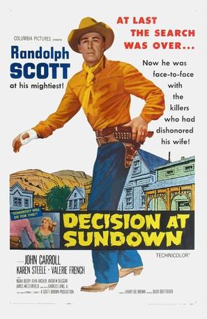 Decision at Sundown - Movie Poster (thumbnail)