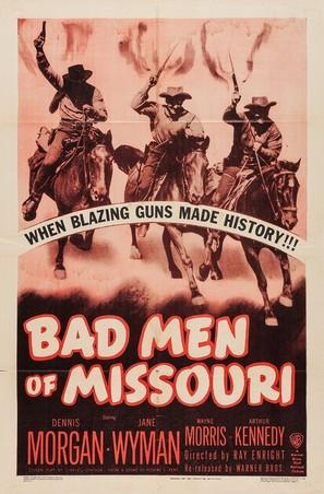 Bad Men of Missouri - Re-release movie poster (thumbnail)