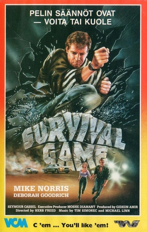 Survival Game - Finnish VHS movie cover (thumbnail)