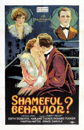 Shameful Behavior? - Movie Poster (thumbnail)