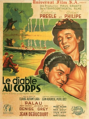 Le diable au corps - French Movie Poster (thumbnail)
