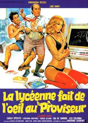 Ripetente fa l'occhietto al preside, La - French Movie Poster (thumbnail)