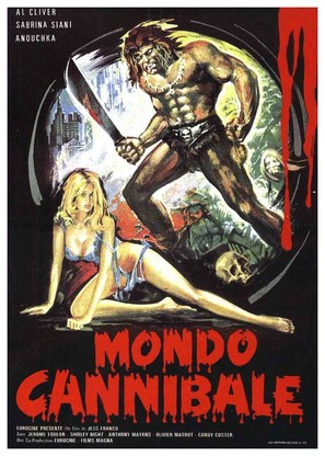 Mondo cannibale - French Movie Poster (thumbnail)