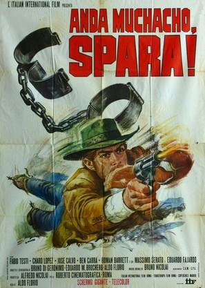 Anda muchacho, spara! - Italian Movie Poster (thumbnail)