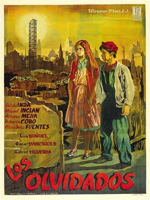 Los olvidados - Mexican Theatrical poster (thumbnail)