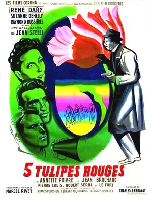 Cinq tulipes rouges - French Movie Poster (thumbnail)