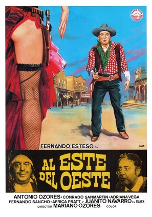 Al este del oeste - Spanish Movie Poster (thumbnail)