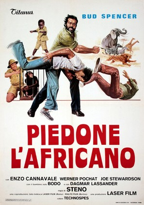 Piedone l'africano - Italian Movie Poster (thumbnail)