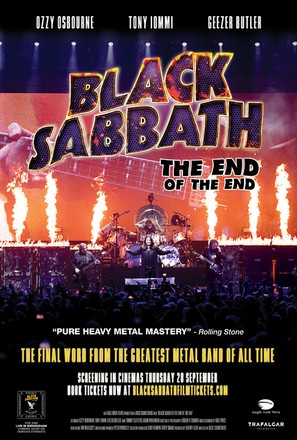 Black Sabbath the End of the End - British Movie Poster (thumbnail)