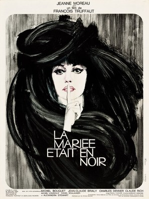La mariée était en noir - French Movie Poster (thumbnail)