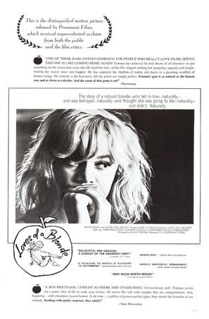 Lásky jedné plavovlásky - Movie Poster (thumbnail)