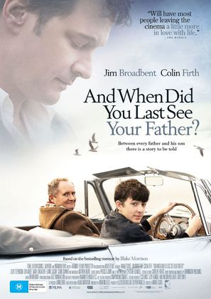 And When Did You Last See Your Father? - Australian Movie Poster (thumbnail)