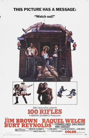 100 Rifles - Movie Poster (thumbnail)