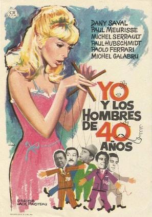 Moi et les hommes de 40 ans - Spanish Movie Poster (thumbnail)