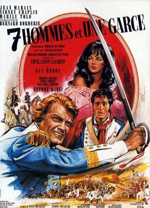 Sept hommes et une garce - French Movie Poster (thumbnail)