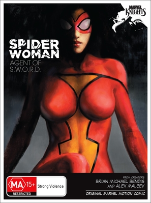 """""""Spider-Woman, Agent of S.W.O.R.D."""" - Australian DVD movie cover (thumbnail)"""