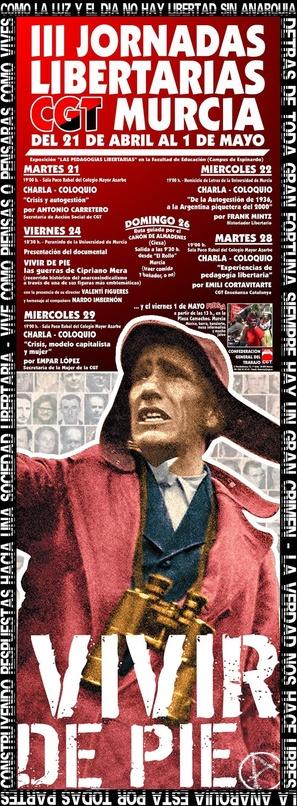 Vivir de pie. Las guerras de Cipriano Mera - Spanish Movie Poster (thumbnail)