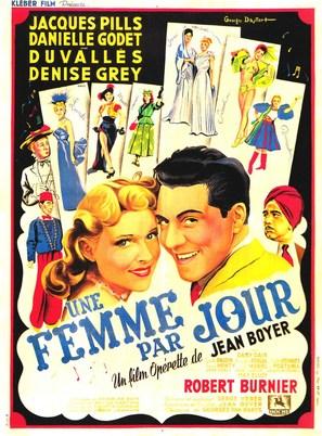 Une femme par jour - French Movie Poster (thumbnail)