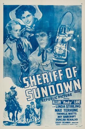 Sheriff of Sundown - Movie Poster (thumbnail)