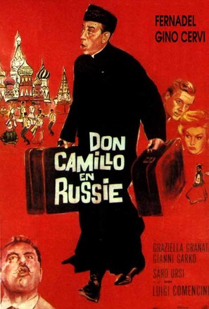 Il compagno Don Camillo - French Movie Poster (thumbnail)