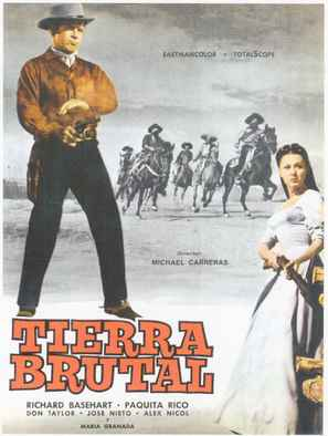 Tierra brutal - Spanish Movie Poster (thumbnail)