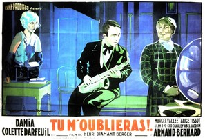 Tu m'oublieras - French Movie Poster (thumbnail)
