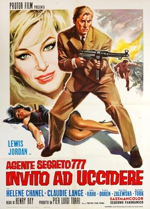 Agente segreto 777 - Invito ad uccidere - Italian Movie Poster (thumbnail)