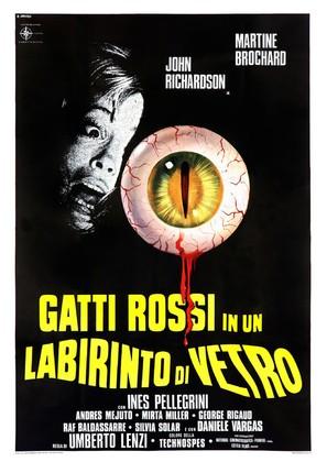 Gatti rossi in un labirinto di vetro - Italian Movie Poster (thumbnail)