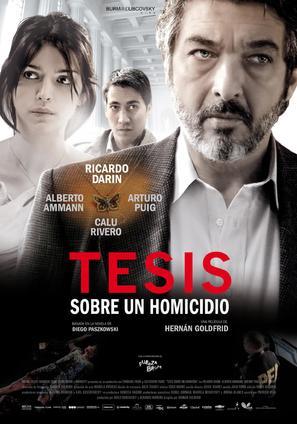Tesis sobre un homicidio - Argentinian Movie Poster (thumbnail)