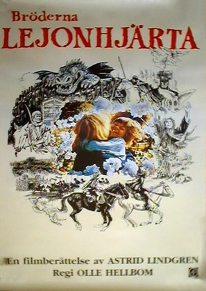 Bröderna Lejonhjärta - Swedish Movie Poster (thumbnail)