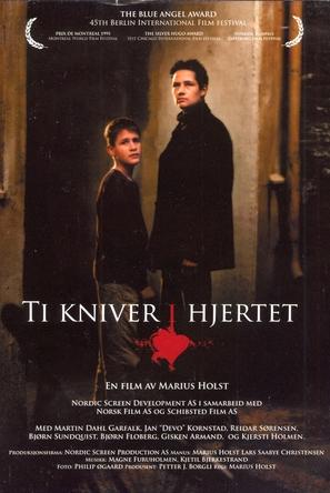 Ti kniver i hjertet - Norwegian Movie Poster (thumbnail)