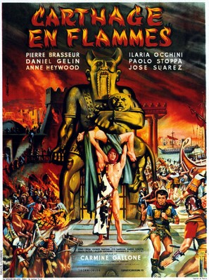 Cartagine in fiamme - French Movie Poster (thumbnail)