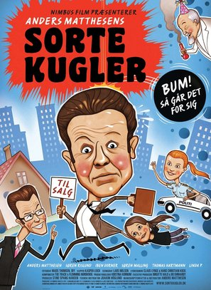 Sorte kugler - Danish Movie Poster (thumbnail)