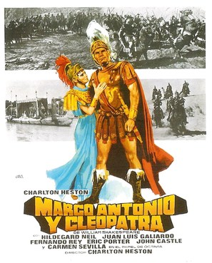 Antony and Cleopatra - Spanish Movie Poster (thumbnail)
