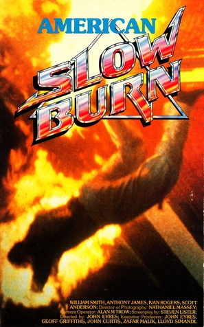 Slow Burn - German VHS movie cover (thumbnail)