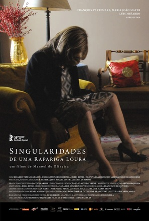 Singularidades de uma Rapariga Loira - Portuguese Movie Poster (thumbnail)