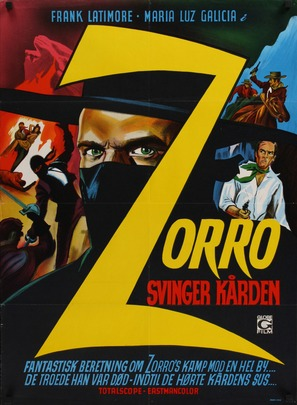 La venganza del Zorro - Danish Movie Poster (thumbnail)